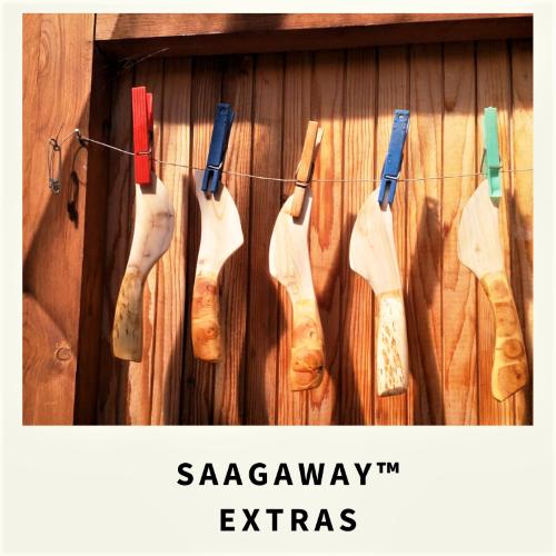 Saagaway ™ Extras tuotteet on valmistettu kotimaisena käsityönä