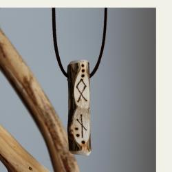 Leppä symbols puukaulakoru 019